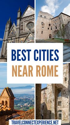 Looking for inspiration for visiting a few cities near Rome? Here are some of the most spectacular ones! | Day trips from Rome | Weekend trips from Rome | Cities near Rome | Best places to visit outside of Rome Rome Travel, Italy Travel, Day Trips From Rome, Rome City, Travel Articles, Best Cities, Weekend Trips, Cool Places To Visit, Paths