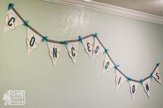 One Lucky Pickle: Sporty-Chic Baby Shower (banner & photo booth props made with the Silhouette!)