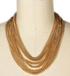 Gold Multi-Chain Necklace Set
