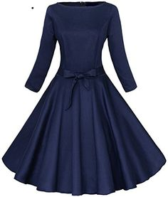 Robes Vintage, Vintage Style Dresses, Dress Vintage, Retro Dress, Vestidos Vintage, Robes Audrey Hepburn, Vestidos Pin Up, Party Kleidung, Circle Dress
