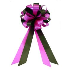 Black and Hot Pink Fuchsia Wedding Pew Pull Bows - 8' Wide, Set of 6 ** Visit the image link more details.