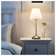 IKEA ÅRSTID table lamp The textile shade provides a diffused and decorative light.