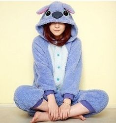euro incl shipping Coral fleece sleepwear stitch cartoon animal one piece lovers lounge thickening Adult Onesie Pajamas, Pajamas For Teens, Onesie For Teens, Pokemon Costumes, Anime Cosplay Costumes, Satin Pyjama Set, Pajama Set, Disney Outfits, Girl Clothing