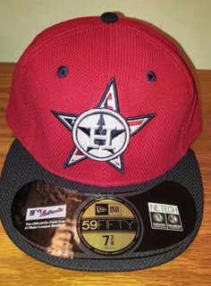 New Era 59Fifty Houston ASTROS Diamond Hat Cap Size 7 3/8 Fitted MLB Baseball #NewEra #HoustonAstros Baseball Gear, New Era 59fifty, Houston Astros, Mlb, Nike Men, Stripes, Seasons, Stars, Diamond