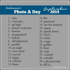 September Photo A Day 2014 | theidearoom.net