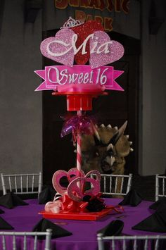 Mia Sweet 16 Centerpiece