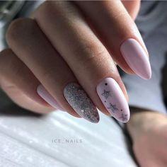 Pastel Pink Nails, Pink Nail Art, Purple Nails, Solid Color Nails, Nail Colors, Nagellack Design, Grunge Nails, Fall Acrylic Nails, Pink Nail Designs