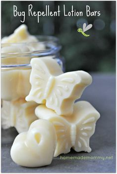 These ROCK! Bug Repellent Lotion Bars via Homemade Mommy