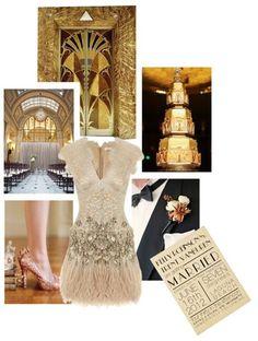 art deco wedding ideas by Cordai