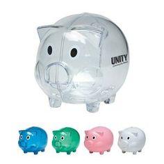 Plastic Piggy Bank, Children, Promotional item