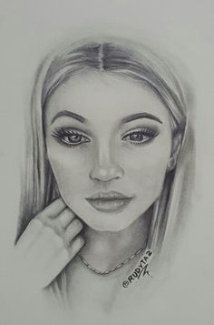 @kyliejenner #kyliejenner kylie jenner drawing I did, follow me on instagram @rudyta2