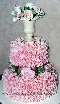 Pink Chocolate curls by sharoncakes, via Flickr