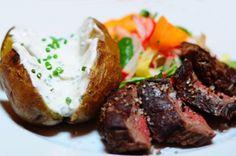 Flank-steak with green salad and smoked potatoes. Recipe is here http://www.pragainfo.com/ru/recipes/read/54/flank-stejk-garnirovannyj-salatom-iz-letnih-ovoschej-i-zapechennym-kartofelem