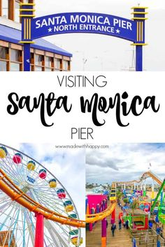Visiting Santa Monica Pier – Made with HAPPY Visiting Santa Monica Pier. Things to do in Santa Monica for family. Family travel to Los Angeles. Visiting the beach in LA. Visiting the Santa Monica Boardwalk. Things to do in Venice. Venice California, California Travel, Hawaii Travel, Travel Usa, Hollywood California, Family Family, Family Travel, Santa Monica Boardwalk, Beach Photography Friends