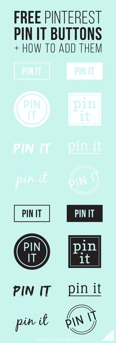 Adding a custom pin it button on your site is a great way to boost your Pinterest traffic. And luckily it's really easy. Here's how, plus some free buttons!