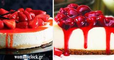 τσιζκεικ με ζαχαρουχο γαλα σε 15 λεπτα - womanoclock Best Dessert Recipes, Fun Desserts, Cheesecakes, Food And Drink, Ice Cream, Cooking, Sweet, No Churn Ice Cream, Kitchen