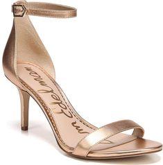 369190ce7ca Sam Edelman  Patti  Ankle Strap Sandal in Metallic. Achieve a barely there