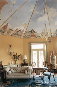 look at that ceiling...Chinese drawing room; private house, Co Carlow, Ireland, 1994