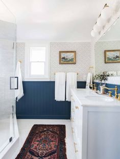 We Are Moving!!! But To Where??? - Emily Henderson #home #life Modern Classic Bathrooms, Modern Master Bathroom, Guest Bathrooms, Bathroom Rugs, Small Bathroom, Bathroom Sinks, Bathroom Ideas, Country Bathrooms, Bathroom Designs