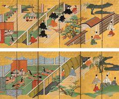 バーク・コレクション| 「Kiritsubo」(桐壺)と源氏物語の「Utsusemi」(空蝉)の章(源氏物語)