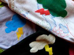halloween motifs! – freezer paper stenciling (tutorial) – kelly hogaboom Freezer Paper Stenciling, Puff Paint, Fabric Glue, Paint Drying, Fabric Samples, Screen Printing, Stencils, Scrap, Sew