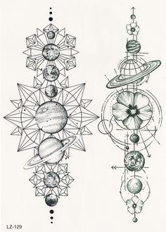 Cool Moon Phases Back Tattoo Ideas for Women Black Geometric Mandala Spine Tat -… Tatto Drawings – Fashion Tattoos Trendy Tattoos, Unique Tattoos, New Tattoos, Body Art Tattoos, Symbolic Tattoos, Gorgeous Tattoos, Feminine Tattoos, Amazing Sleeve Tattoos, Mystical Tattoos
