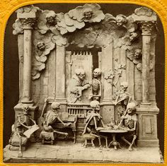 Diableries stereo cards - gorgeous late 19th century stereo images. London Stereoscopic Company