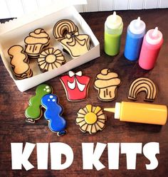 Put together some quick Kid Kit cookie boxes for easy cookie decorating parties!!