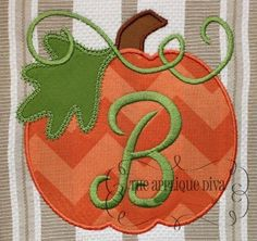 machine embroidery fall designs | Fall Thanksgiving Great Pumpkin Digital by theappliquediva on Etsy, $2 ...