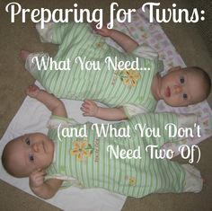 Expecting twins? As you shop or register for baby items, consider my advice on must-haves, things you need two of, and things you don't.