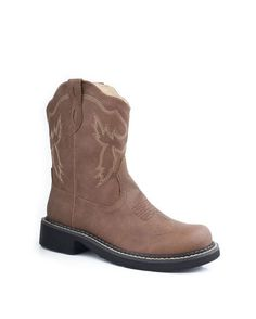 "Women's 8"" Chunk Boot With Western Stitch Design Boot -Brown getting these for faster horses"