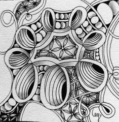 Miimis Zentangle Dingsplatz Mandala Doodle, Doodles Zentangles, Zentangle Patterns, Doodle Art, Art Forms, Crochet Stitches, Tangled, Creative Art, Sketching