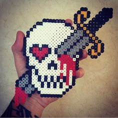 Dagger Skull by chillyconcarnage - Kandi Photos on Kandi Patterns