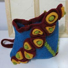 Felted #crochet purse  from reginajestrow