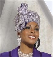 Women's Special Occasion Stunning First Lady Church Hat in Violet by Donna Vinci H2135