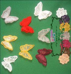 flores, pétalas, folhas e borboletas para aplique em roupas, almofadas, tic tac, toalhas, bolsas, carteiras e afins.