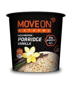 Owsianka wysokobiałkowa waniliowa 100g. | Porridge with whey protein - vanilla. #moveon #moveonpl #moveonsport #sport #diet #dieta #healthy #food #vanilla #protein #owsianka #oatmeal #zdrowie #inspiracje #athlete #sniadanie