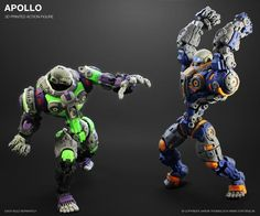Apollois an 8.5 inch tall 3D printed action figure that is sold fully assembled. It features 55 points of articulation and accommodation forLED eyes(figure i