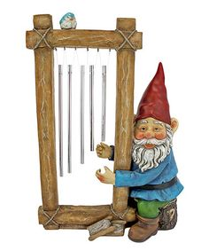 Love this Ringing His Chimes Garden Gnome Statue on #zulily! #zulilyfinds