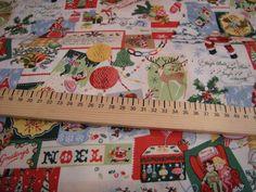 Tissu Noël MAKOWER 100% coton de L'Atelier de la Souris sur DaWanda.com