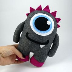 Monster Plush Stuffed Animal Cute Toy Baby by MonstersFamily