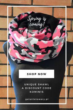 Do you need a nice shawl? We invite you for sale. Discount code: Komin15. The sale lasts until March 8, 2020.   Zapraszamy na wyprzedaż kominów. Kod zniżkowy: Komin15. Wyprzedaż trwa do 8 marca 2020. Spring Is Coming, Shawl, Shop Now, Coding, Shopping, Fashion, Moda, Fashion Styles, Fashion Illustrations