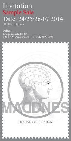 Sample Sale MADDNES House of Design -- Amsterdam -- 24/07-26/07