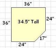 Dimensions of 36 Corner Sink Base Cabinet?