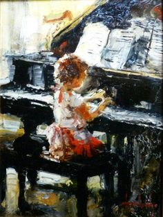 """Ella"" by Stephen Shortridge — Portraits Gallery Music Painting, Music Artwork, Anime Comics, Musik Illustration, Piano Art, Vintage Artwork, Art Themes, Pictures To Paint, Musical"