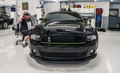 This Ford Mustang GT500 dropped in for a Full Detail, and it's really starting to shine!