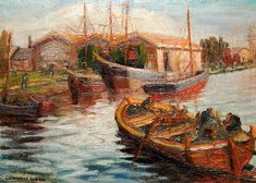 bote Paintings, Kids House, Impressionism, Dinghy, Buildings, Argentina, Paint, Painting Art, Painting