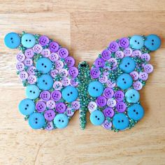 Create a Super Fun Butterfly out of Buttons