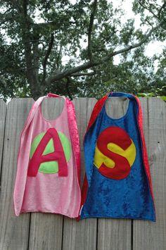 Personalize Your Own SUPER HERO CAPE - Super Cape - Birthday Cape - Super Hero Cape - Halloween Costume - Kid Costume. $28.50, via Etsy.
