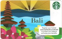 """BucksCards® Starbucks Card® Indonesia Bali 2013 [""""Worldwide site to track the Starbucks card. 1st card issued in 2001.""""]"""